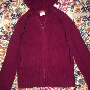 Esprit pink hooded zip down sweater